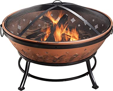 Braséro en acier pour brûler le bois diamètre du foyer 89 cm Peaktop FP35