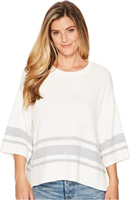 NYDJ Kimono Sleeve Striped Sweater