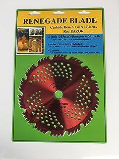 "Renegade Blade 1 Blade 8""-56t Razor/Hybrid - Combo Specialty - GS1 Barcode Shelf Hanging Blister Pack - Carbide Brush Cutt..."