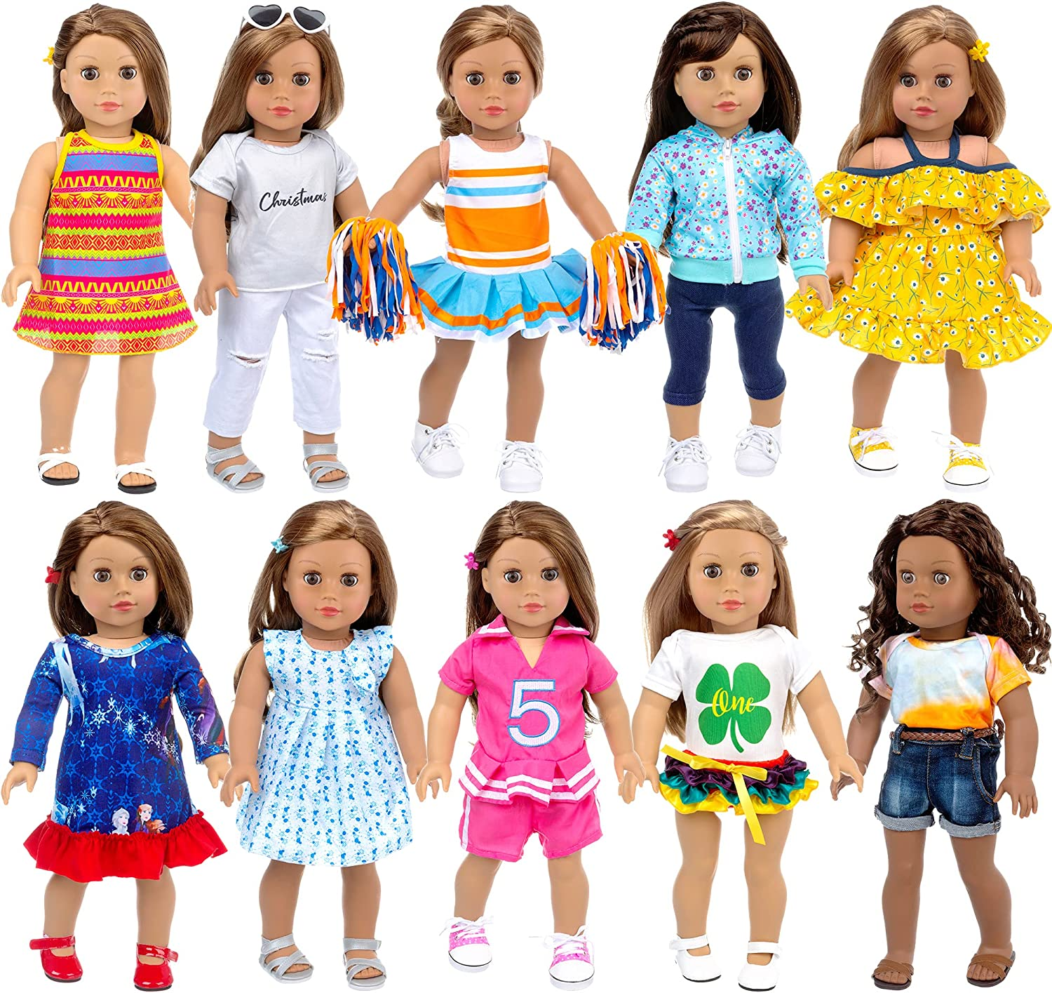 Ecore Fun Luxury 10 Sets American 18 Reservation and Doll Accessories Clothes Inch