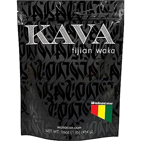 Wakacon KAVA WAKA Powder - Fijian Noble Premium High Quality Kava Root Powder (16oz)