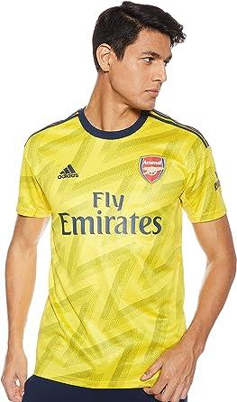 adidas Arsenal 2019/20 Mens Short Sleeve Away Football Jersey Shirt Yellow