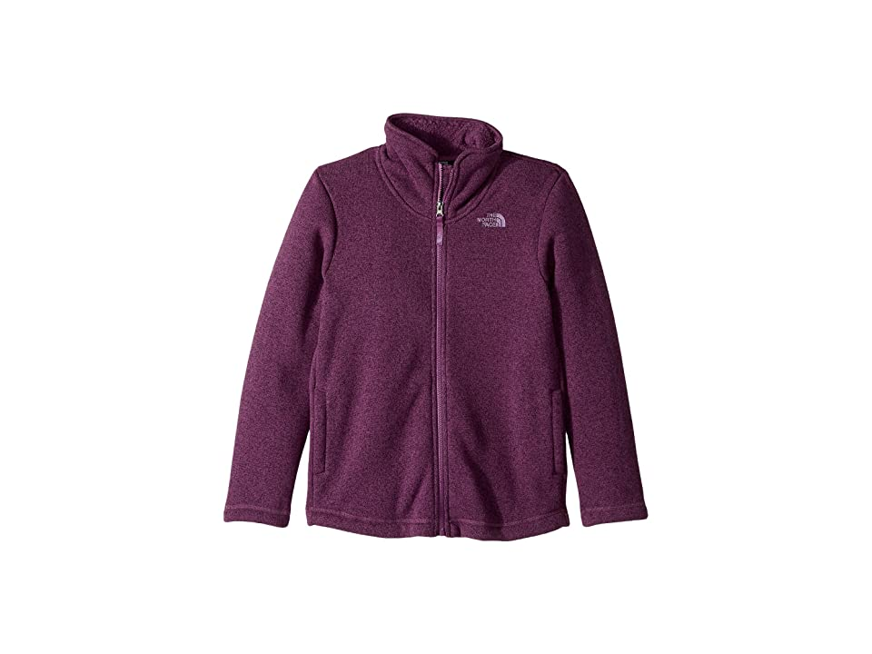 The North Face Kids Crescent Full Zip (Little Kids/Big Kids) (Wood Violet Heather (Prior Season)) Girl