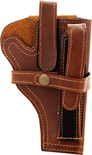 Snipper 9 mm Pistol Cover with Magazine Holder (Brown)