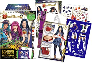 Make It Real - Disney Descendants 2 Fashion Design Sketchbook. Disney Inspired Fashion Design Coloring Book for Girls. Includes Evie Sketch Pages, Stencils, Stickers, and Design Guide (Renewed)