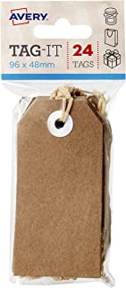 Avery Kraft Brown Swing Gift Tags with String, 96 x 48 mm, 24 Tags (13200)