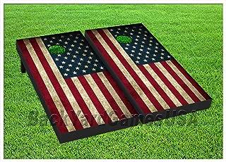 BackYardGames Vinyl Wraps Cornhole Boards Decals USA Flag BagToss Game Stickers 402
