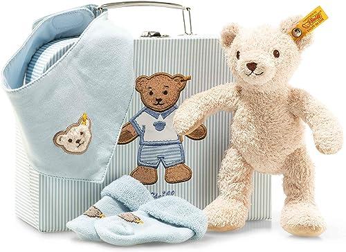 productos creativos Steiff 241260 Boy - Set de Accesorios para bebé bebé bebé (4 Piezas), Color azul  el estilo clásico