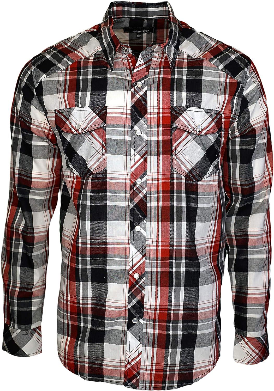 Coastal Mens Long Sleeve Snap Button Shirt