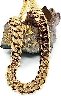 14 مم الذهب سلسلة ارتباط الكوبي سلسلة قلادة للرجال النساء الهيب هوب. طلاء ذهبي 22X أكثر حقيقي 24k أكثر من آخر الأزياء والم...