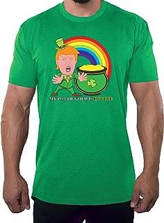 Donald Trump T-Shirts, St Patrick's Day Donald Trump Leprechaun Shirt - Gold