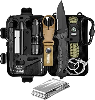 Christmas Birthday Gift for Men Him Husband Dad Boyfriend Boys, Fun Gadget Mens Gifts Ideas, 11-in-1 Survival Gear Kits, EDC Emergency Tools and Everyday Carry Gear, Official Survival Kit