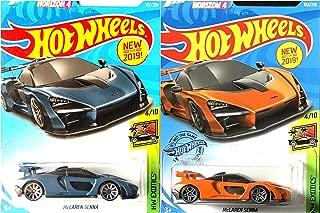 Hot Wheels McLaren Senna 162/250 Orange and Blue Forza Horizon 4 2 Car Bundle Set