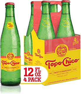 Topo Chico Sparkling Mineral Water, Grapefruit, 288 fl oz (Pack of 4)