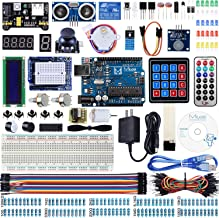 Miuzei Super Starter Kit Compatible with Arduino Projects with LCD1602 Module, Breadboard, Servo, 9V 1A Power Supply, sensors, LEDs, Detailed Tutorial MA13