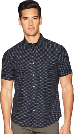 Vince Micro Star Print Short Sleeve Shirt
