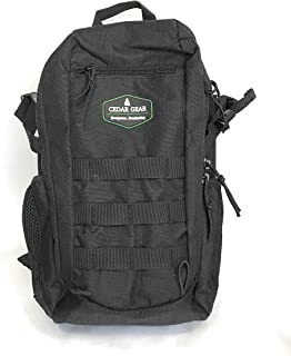 Cedar Gear Durable and Reliable Military Tactical Backpack 20L Molle Outdoor Rucksack, Force Series (Black)