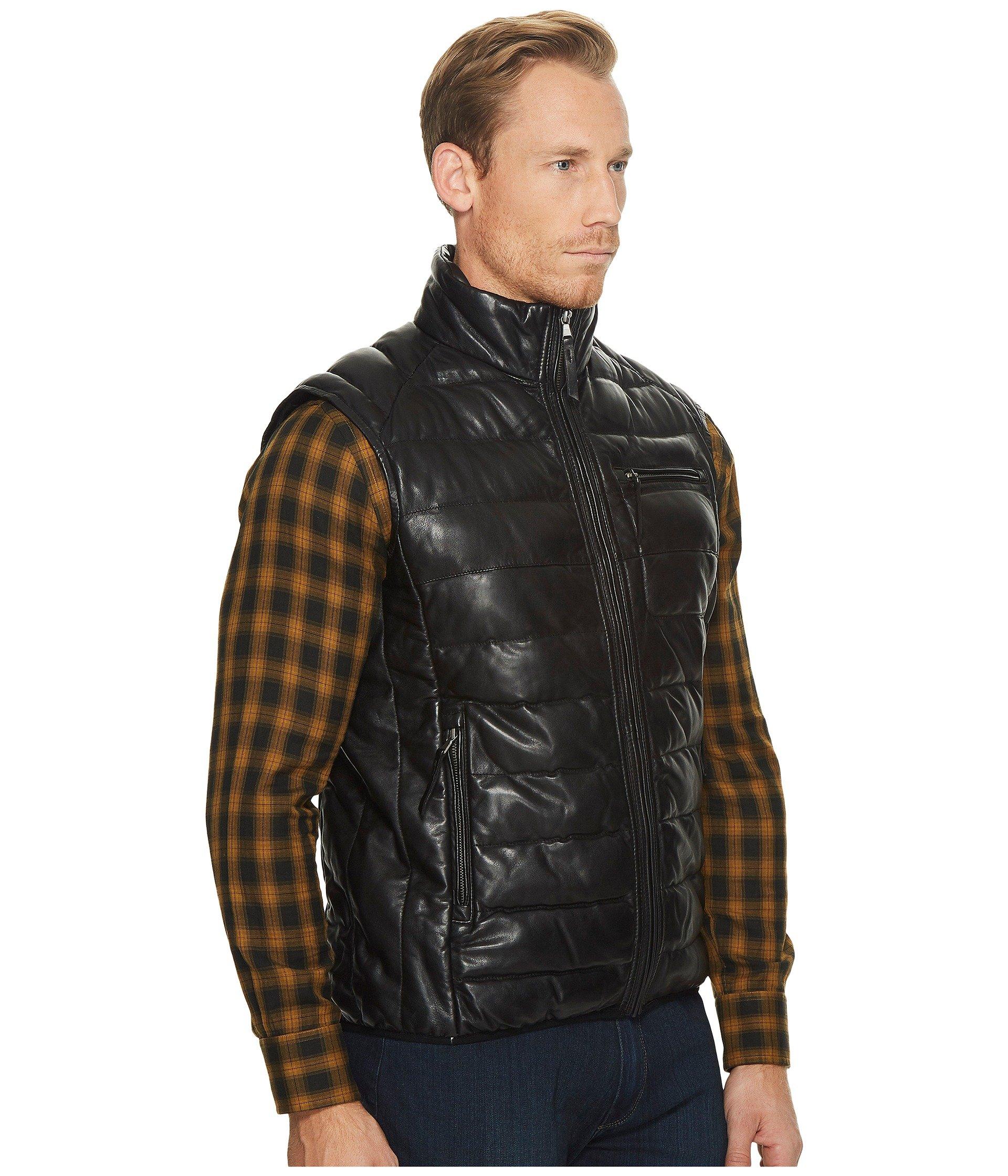 Leather Ribbed Scully Butta Soft Noah Vest Black Like wqXwUSAI