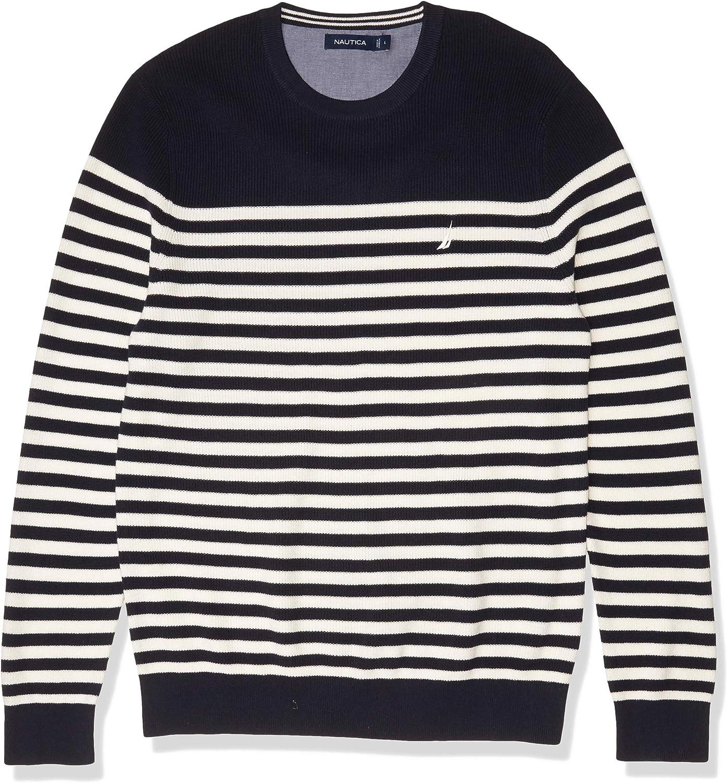 Nautica Men's Stripe High order New Free Shipping Sweater Knit