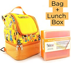 The Parent Diary Insulated Kids Lunch Bag PLUS Silicone Lunch Box Color: Orange