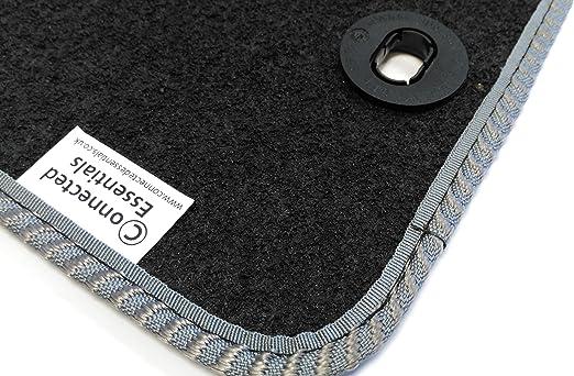 Premium Bootmat Connected Essentials CEB650 S6 2004-2011 Car Mat Set Black with Grey Trim