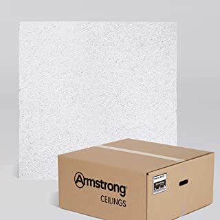 Armstrong Ceiling Tiles; 2x2 Ceiling Tiles – HUMIGUARD Plus Acoustic Ceilings for Suspended Ceiling Grid; Drop Ceiling Tiles Direct from the Manufacturer; CIRRUS Item 574 – 12 pcs White Lay-in