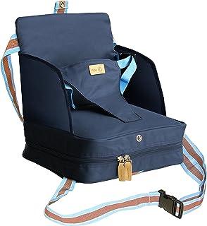 roba roba Boostersitz, mobiler aufblasbarer Kindersitz mit erhöhten Seitenteilen, flexible Sitzerhöhung für zuhause und unterwegs