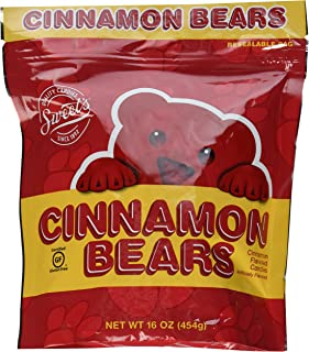 Cinnamon Bears Candy, 16 oz Resealable Bags (Pack of 2)