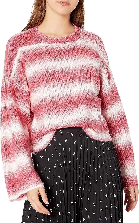 BB DAKOTA Women's Pink Please Space Dye Sweater