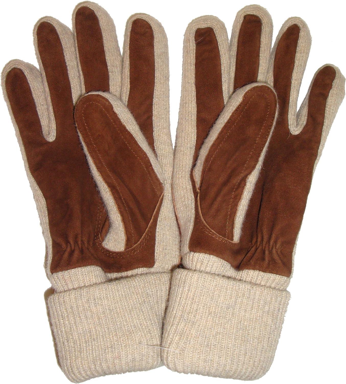 Polo Ralph Lauren Women's Gloves, Size S/M, Brown/Beige, (#39)