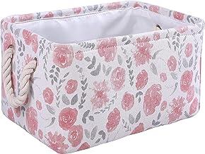 MZIMIK Rectangular Storage Basket Collapsible Organizer Bin Thick Toy Box for Organizing Home/Dorm/Kitchen/Pet/Office/Clos...
