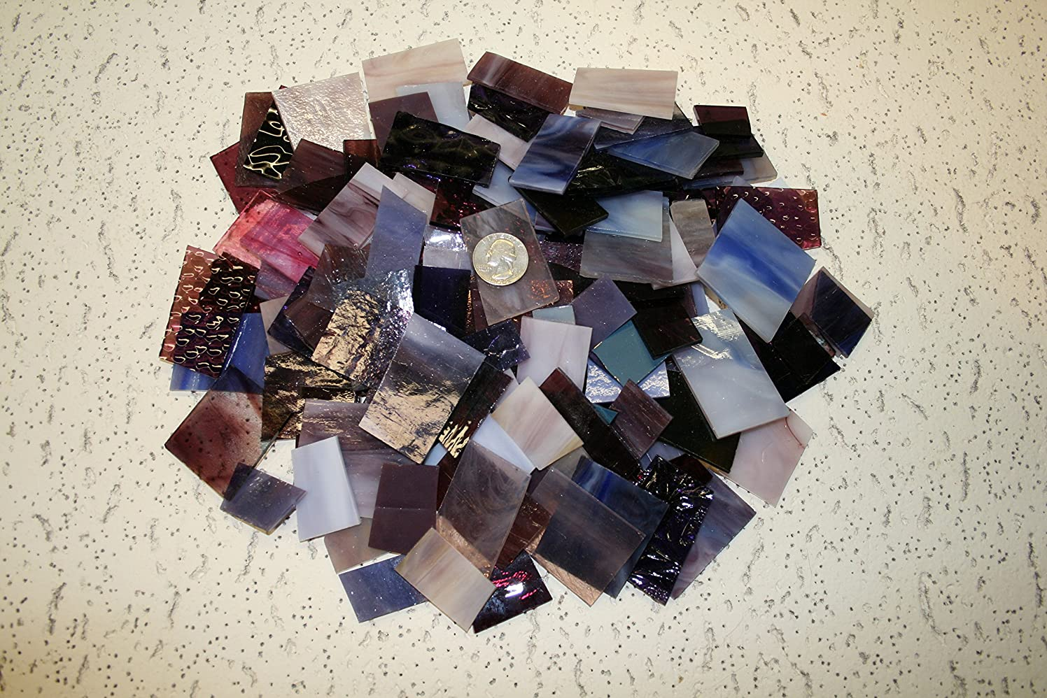 Purple Tones Mix Value Pack - Stained Glass / Mosaics (3 Pounds)