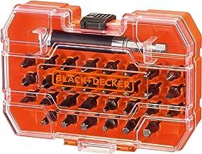 Black+Decker A7228-XJ 31-częściowy zestaw bitów do wkręcania i montażu (w zestawie uchwyt magnetyczny, w praktycznym pudeł...