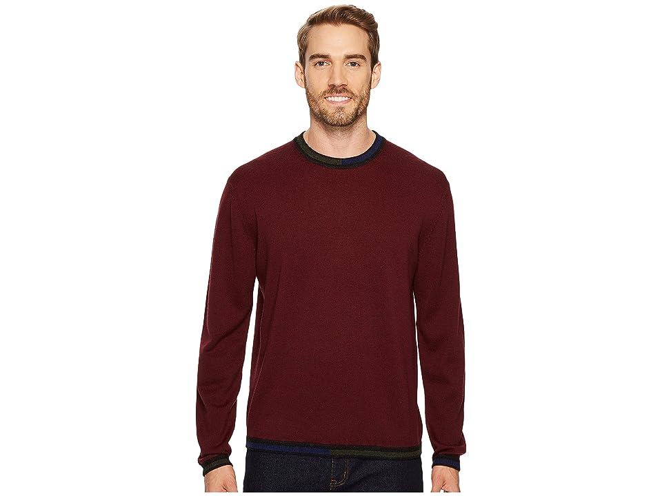 Robert Graham Cooperstown Long Sleeve Sweater Crew Neck (Port) Men