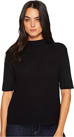 Michael Stars - Cotton Knit Elbow Sleeve Mock Neck