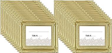 MCS - Marco de Fotos para Boda, Dorado (Glitter Gold), Paquete de 24, 1
