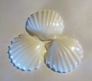 Sea Shell Soap Set White 3 bar package Cotton Breeze Scented
