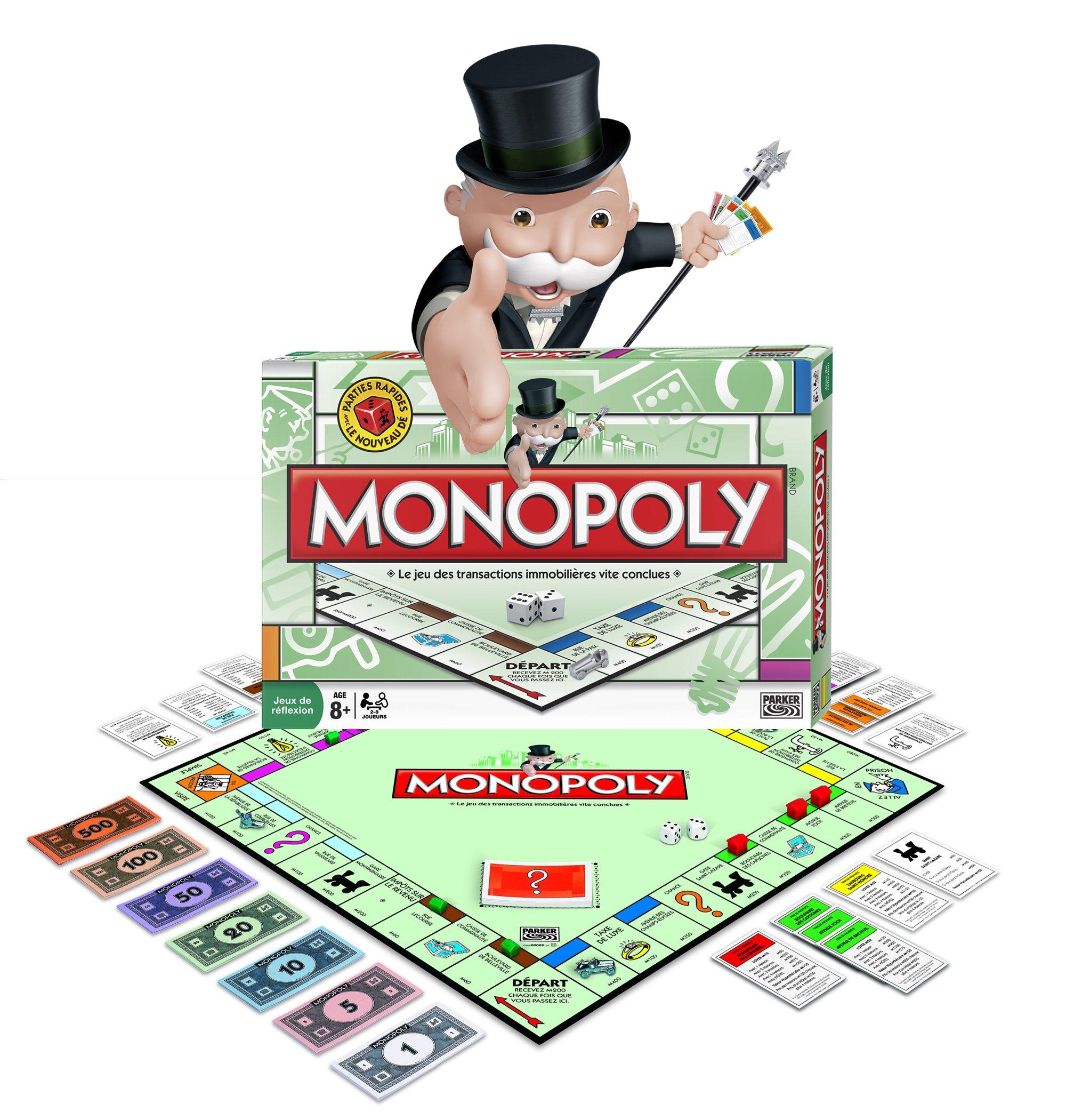 Parker 91011 Monopoly - Juego de Mesa Monopoly (Contenido en francés): Amazon.es: Juguetes y juegos