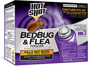 HOT SHOT 95911 AC1688 Bedbug & Flea Fogger, Case Pack of 1, Red