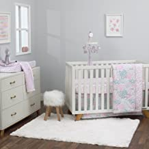 lavender and aqua crib bedding