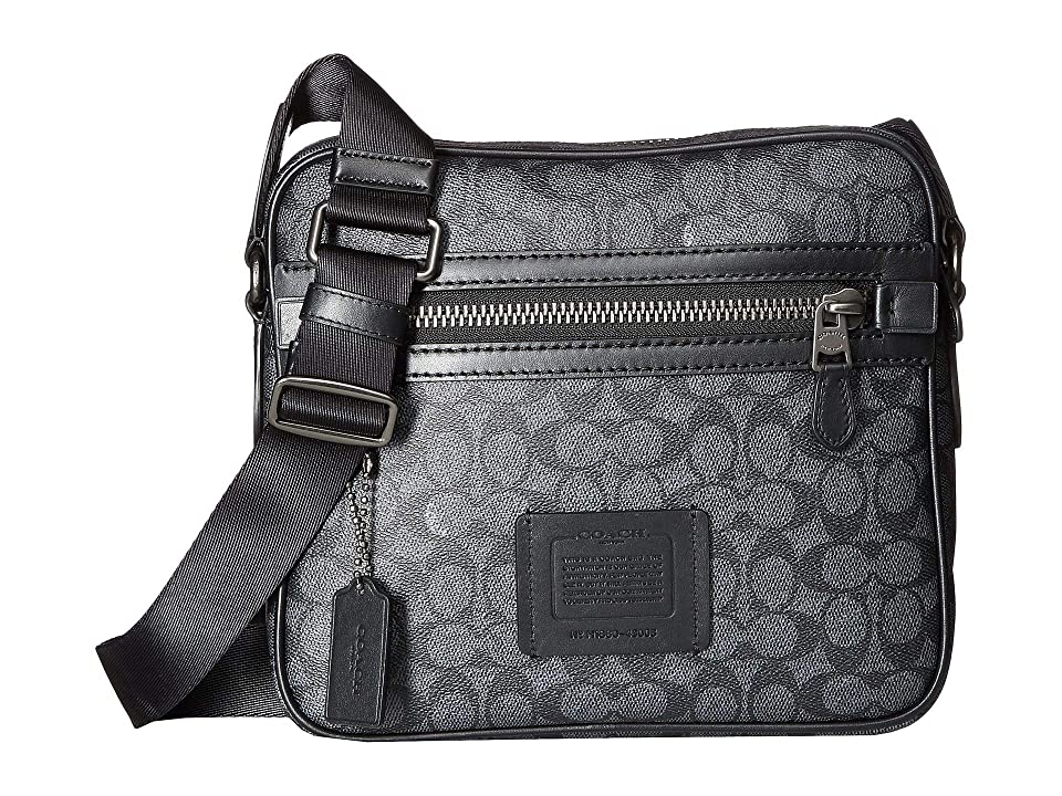 COACH Dylan 27 in Signature (Grey) Cross Body Handbags