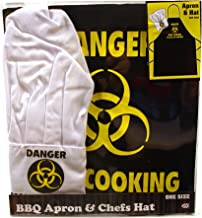 GH International Danger Man Cooking Apron & Chef Hat Set