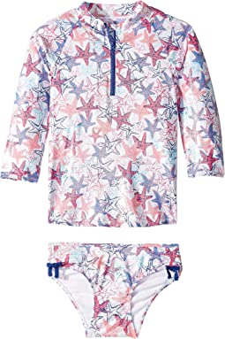 Snazzy Starfish Rashguard Set (Toddler/Little Kids/Big Kids)