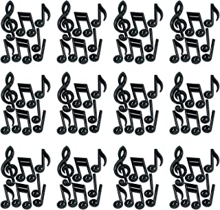 Beistle 55880 Black 84-Pack Plastic Musical Notes, 13-Inch