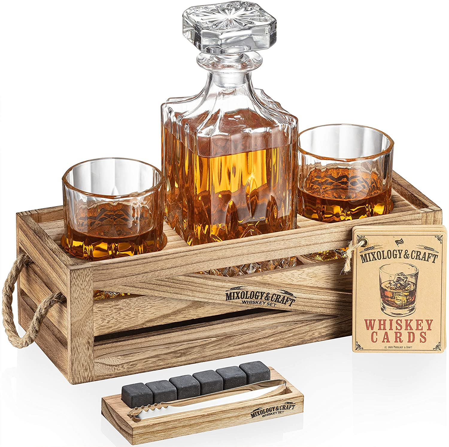 Whiskey Stones Gift Ranking TOP4 Set for Ranking TOP19 with Men Glasses Decanter