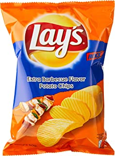 Lay's Potato Chips Extra BBQ 50g, (Pack of 6)