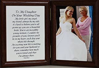PersonalizedbyJoyceBoyce.com 5x7 Hinged to My Daughter ON Your Wedding Day Poem Frame ~ Gift for Bride from Mother or Father! (Walnut)