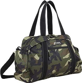 Sport Carryall Duffel For Gym, Travel or Weekend Gateway, Army Camo Print/Black Trim