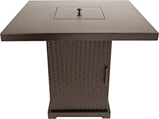 Pleasant Hearth OFG466TA Warren Table Gas fire Pit, Hammered Bronze
