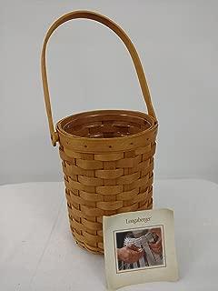 Longaberger 2008 Wine Basket w/ Beverage Tote Single Protector & Cloth Liner